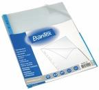 Signallomme A4 Bantex blå (25) 80my topp/1/2 høyre 205001