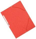 Strikkmappe Exacompta rød m/3klaff.kart.55305E