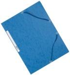 Strikkmappe Exacompta blå m/3klaff. kart.55302E