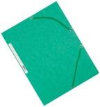 Strikkmappe Exacompta grønn m/3klaff.kart.55303E