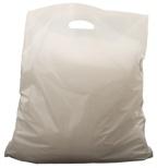 Bærepose 27x15x5,5cm hvit (500) 30my 4090289