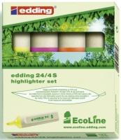 Tekstmarker Edding 24 4farg.assortert, miljø (org.nr.4-24-4)