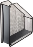Tidsskriftkassett Helit Mesh sort metall H2518095