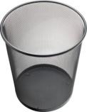 Papirkurv Helit mesh metall 15L. H2518595